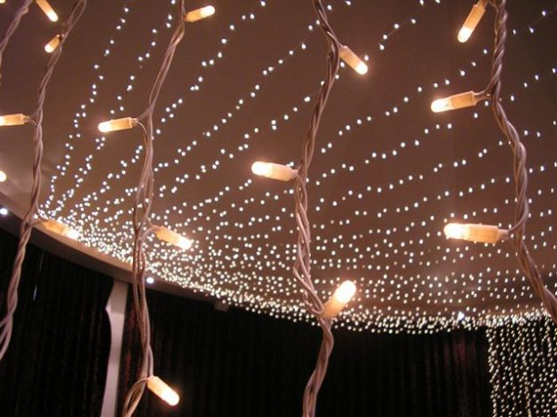 Fairy Light Canopy and Light Curtains Orangery